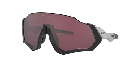 OAKLEY Flight Jacket Matte Black/Silver w/PRIZM Road Black