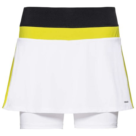 HEAD Emma Skort Women White/Yellow