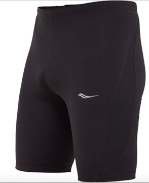 Produkt SAUCONY Inferno half tight/black and black men´s knitted pants