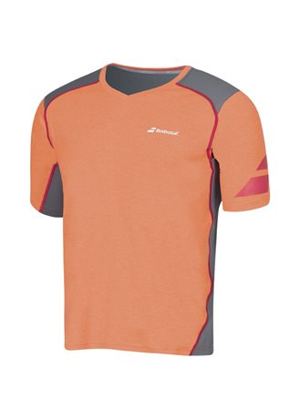 Babolat V-Neck Tee Men Performance Orange 2016