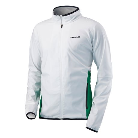HEAD Club Jacket Men White/Green