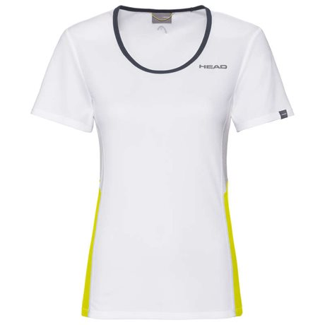 HEAD Club Technical T-Shirt Women White/Yellow