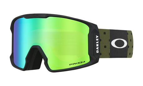 OAKLEY Line Miner Blockography Dark Brush w/PRIZM Snow Jade Iridium 19/20