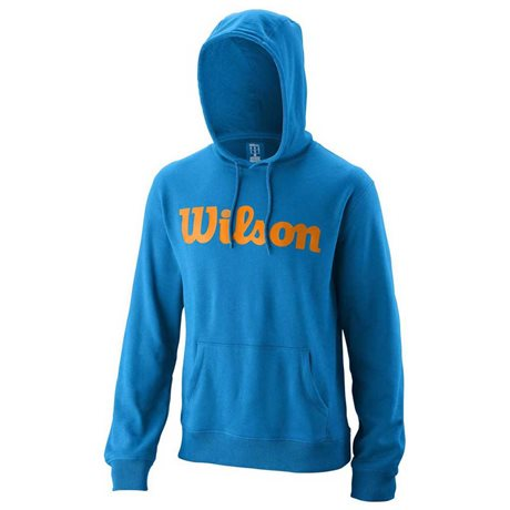 Wilson M Script Cotton PO Hoody Brilliant Blue/Mandarin