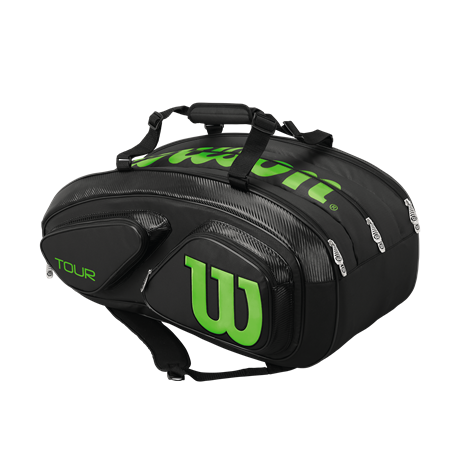 Wilson Tour V 15 Pack Black/Green