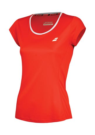 Babolat Flag Tee Girl Core Club Fluo Red