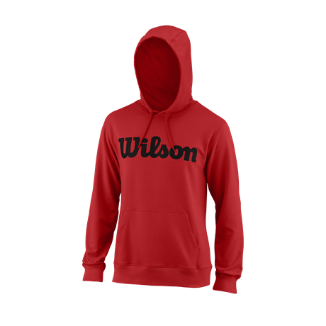 Wilson M Script Cotton PO Hoody Red