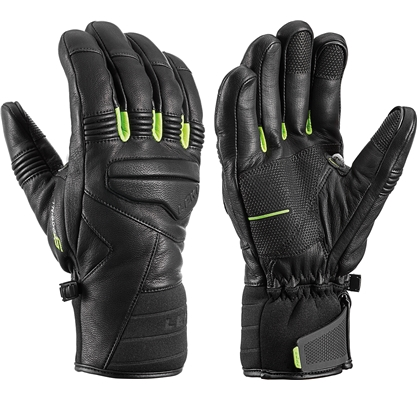 Leki Progressive 9 S mf touch black-lime 643880302 18/19