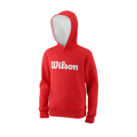 Wilson Y Script Cotton PO Hoody Red