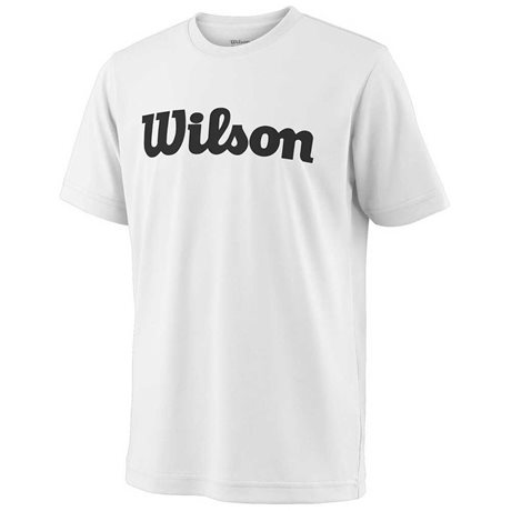 Wilson Y Team Script Tech Tee White/Black