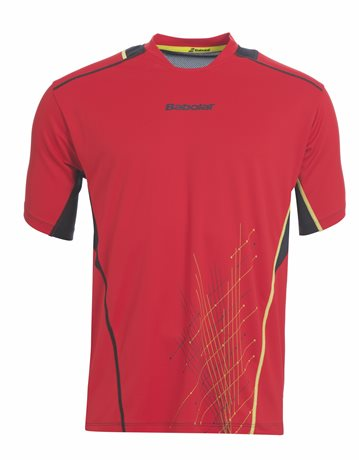 Babolat Tee-Shirt Boy Match Performance Red 2015