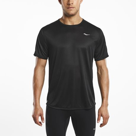 SAUCONY HYDRALITE SHORT SLEEVE BLACK