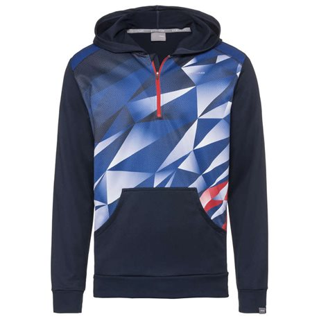 HEAD Medley Hoodie Boy Royal Blue/Red