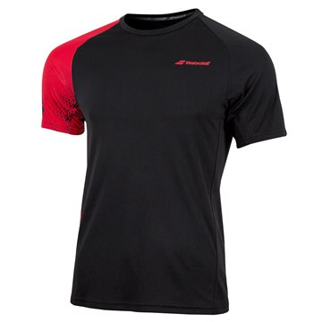 Produkt Babolat Performance Men TEE Crew Neck Black/Salsa