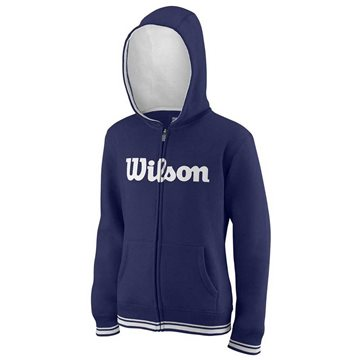 Produkt Wilson Y Team Script FZ Hoody Blue Depths/White