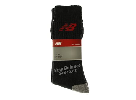 New Balance Crew Basic Socks Antra/Red