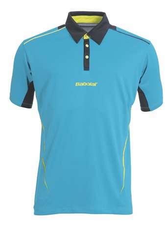 Babolat Polo Men Match Performance Blue 2015