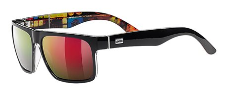UVEX  LGL 19, BLACK/ MIRROR RED