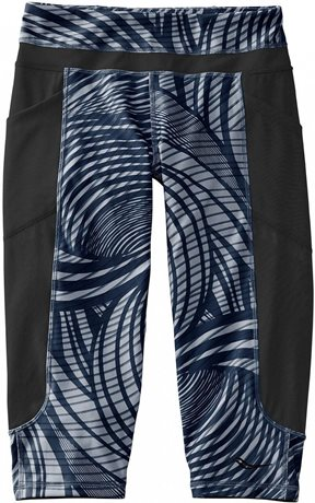 SAUCONY Bullet capri/black print women´s knitted pants